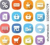 flat vector icon set   percent...   Shutterstock .eps vector #1020401779