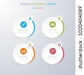 infographic elements with... | Shutterstock .eps vector #1020404089