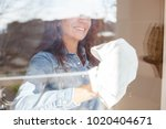 happy middle aged woman...   Shutterstock . vector #1020404671