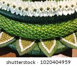 pattern of banana leaf weave to ... | Shutterstock . vector #1020404959