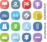 flat vector icon set  ... | Shutterstock .eps vector #1020405319