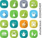 flat vector icon set   iron... | Shutterstock .eps vector #1020405409