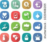 flat vector icon set   money... | Shutterstock .eps vector #1020408205