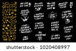 collection of hand made... | Shutterstock . vector #1020408997
