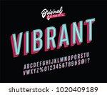 """vibrant"" vintage 3d inline... | Shutterstock .eps vector #1020409189"