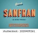 """san fran"" vintage 3d premium... | Shutterstock .eps vector #1020409261"