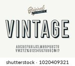 vintage stylish alphabet with... | Shutterstock .eps vector #1020409321