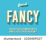 """fancy"" vintage 3d alphabet.... 