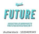 """future"" vintage 3d fresh... | Shutterstock .eps vector #1020409345"