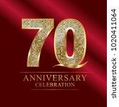 70 years anniversary... | Shutterstock .eps vector #1020411064