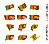 sri lanka flag  vector... | Shutterstock .eps vector #1020412861