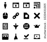 origami style icon set   man... | Shutterstock .eps vector #1020431005