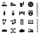 origami style icon set   car... | Shutterstock .eps vector #1020433855