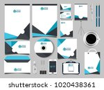corporate business stationery... | Shutterstock .eps vector #1020438361