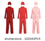 blank sport suits template. | Shutterstock .eps vector #102043915