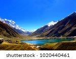 beautiful view of mountainous... | Shutterstock . vector #1020440461
