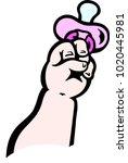 cartoon vector illustration of... | Shutterstock .eps vector #1020445981