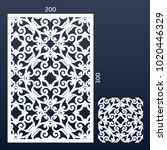 pattern panel for die cutting.... | Shutterstock .eps vector #1020446329