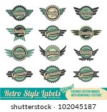 collection of quality and... | Shutterstock .eps vector #102045187