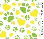 Dog Paw Print Seamless. Traces...
