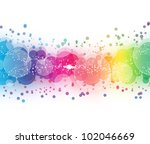 abstract on a colorful... | Shutterstock . vector #102046669