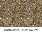 seamless paisley design | Shutterstock . vector #1020467791