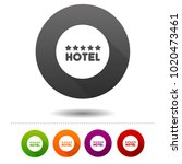 five star hotel icon. travel... | Shutterstock .eps vector #1020473461