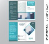 tri fold brochure and catalog... | Shutterstock .eps vector #1020474634