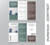 tri fold brochure and catalog... | Shutterstock .eps vector #1020474637