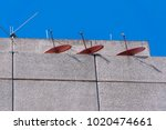 antennas of tv in terrace... | Shutterstock . vector #1020474661