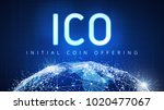 ico initial coin offering... | Shutterstock . vector #1020477067