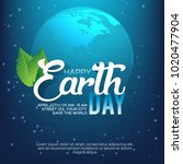 happy earth day poster or... | Shutterstock .eps vector #1020477904