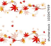 Colorful Autumn Leaves Seamles...