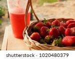 Fresh And Ripe Strawberries In...