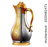 antique kettle luxury golden... | Shutterstock . vector #1020481471