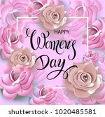happy women's day.... | Shutterstock .eps vector #1020485581