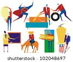figures engaged in various... | Shutterstock .eps vector #102048697
