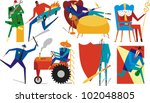 figures engaged in various... | Shutterstock .eps vector #102048805