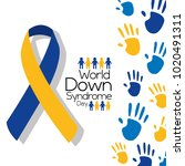 world down syndrome day... | Shutterstock .eps vector #1020491311