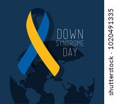 down syndrome day map world... | Shutterstock .eps vector #1020491335