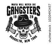 mafia emblem  label  print or... | Shutterstock .eps vector #1020492457