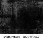 dark scratched grunge... | Shutterstock . vector #1020493069