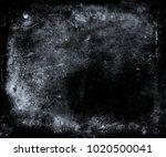 grunge scratched dark blue... | Shutterstock . vector #1020500041