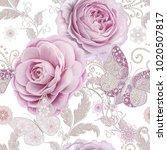 seamless pattern. decorative... | Shutterstock . vector #1020507817