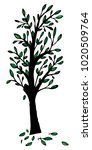 vector illustration of a tree... | Shutterstock .eps vector #1020509764