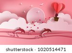 cute couple in love hugging ... | Shutterstock .eps vector #1020514471