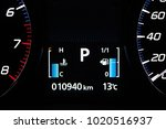 electronic fuel level indicator ... | Shutterstock . vector #1020516937