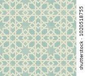 seamless islamic pattern.... | Shutterstock .eps vector #1020518755