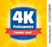 4000 followers thank you design ... | Shutterstock .eps vector #1020528889