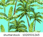 beautiful seamless vector... | Shutterstock .eps vector #1020531265